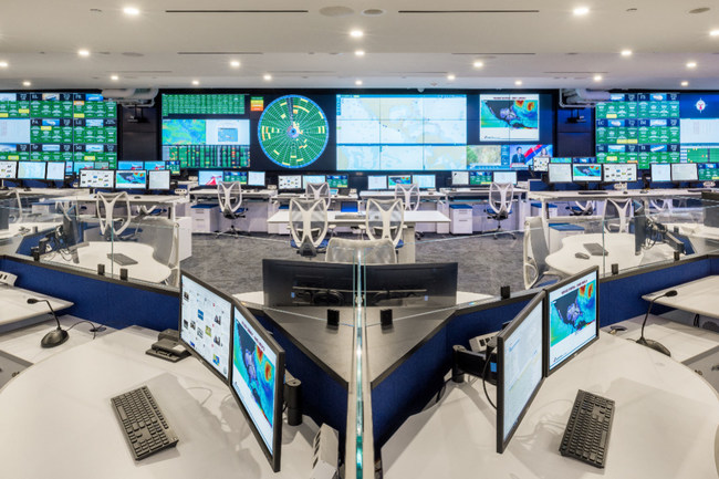 The Carnival Cruise Lines Fleet Operations Center in Miami, FL, with audiovisual integration, design and furniture by Constant Technologies.
