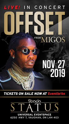 Offset From Migos Live In Concert Nov.27th (CNW Group/Strada Entertainment Group)
