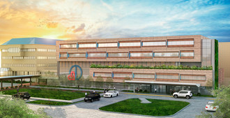 Artist's conceptual rendering of Deborah Heart and Lung Center's 2022 expansion project.