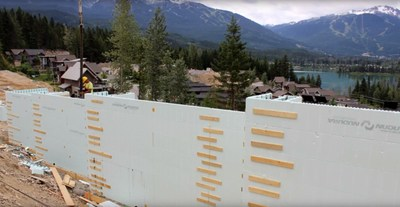 ICF Installation with Helix® Micro Rebar™ reinforcement