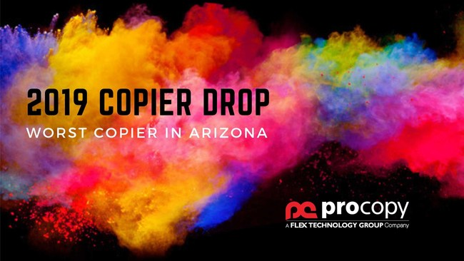 ProCopy Office Solutions Announces the Winner of the 9th Annual Worst Copier in Arizona Sweepstakes Which Concludes With the Device Being Dropped From a 100 Foot Crane!