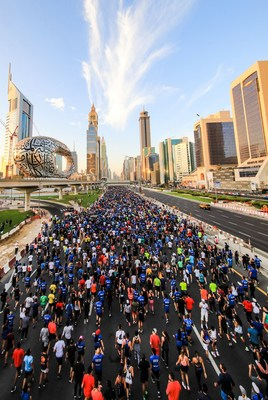 Epic Dubai Run Sees 70,000 People on Major Highway Joining the City's Fitness Challenge