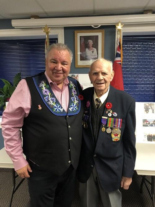 Métis Nation Honours Second World War Veteran in Port Hope (CNW Group/Métis National Council)