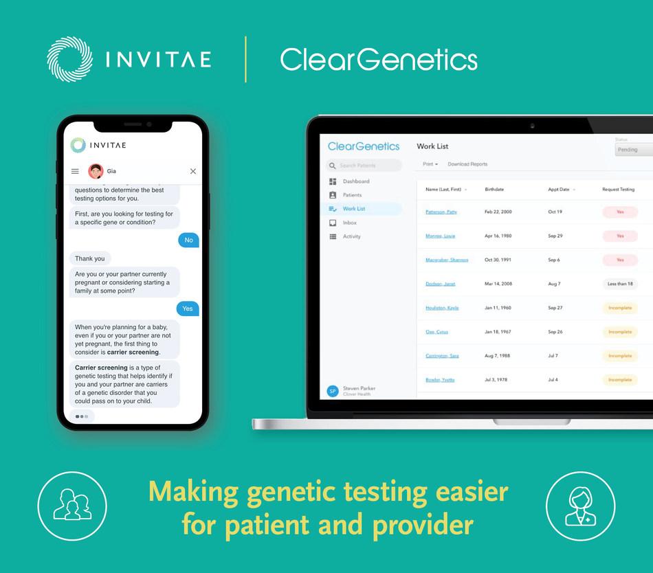Invitae to acquire Clear Genetics