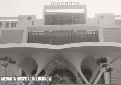 The newly innaugurated Medanta Hospital in Lucknow