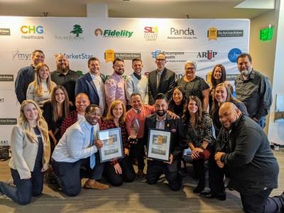 LendingClub's Lehi team at the awards ceremony.