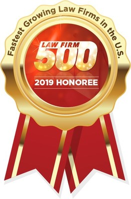 Firm Manager David Hall accepted the Firm's second consecutive Law Firm 500 award at a banquet held October 12 in Lake Las Vegas, NV.