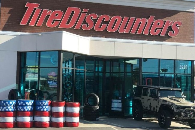 Customer Mike Helton lent his Jeep to draw attention to the Labor is On Us fundraising event.