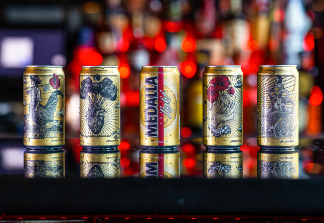 Medalla Light marks its 40th anniversary with the launching of special edition cans designed by renowned Puerto Rican Artis Alexis Diaz.