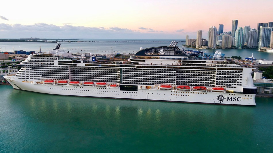 MSC Meraviglia made her inaugural visit to Miami on November 10, to begin sailing 7-night cruises from Miami to the Caribbean for the winter season.
