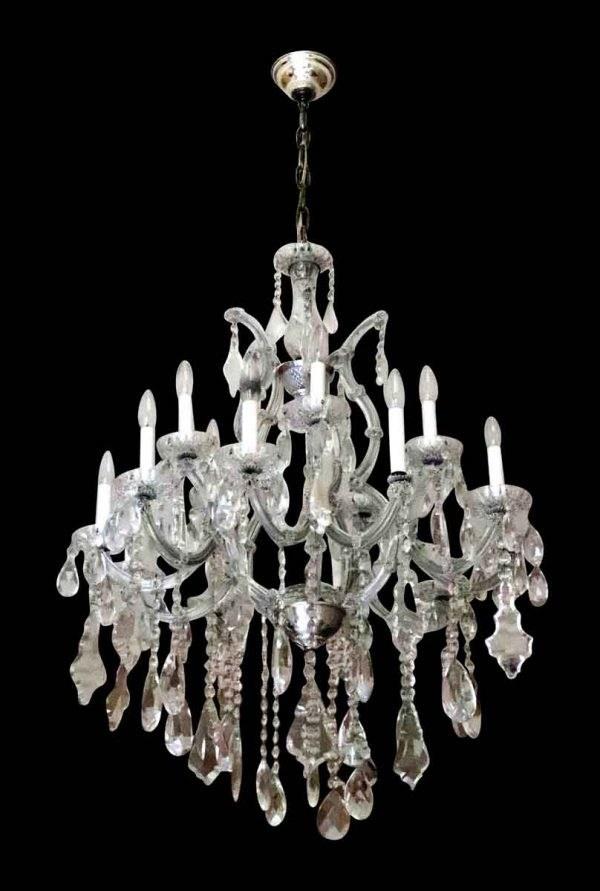 Crystal chandelier from New York's Waldorf Astoria Hotel.