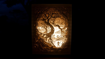 """Using paper and light, artists Hari & Deepti unveil """"A World within a World,"""" inspired by their Envoy by Four Seasons experience."""
