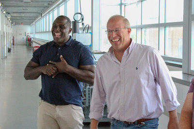 OIF Managing Director and Windpact CEO Shawn Springs are pictured above, touring Windpact's research facility at Ohio State (photo courtesy of The Ohio State University's Institute for Materials Research).