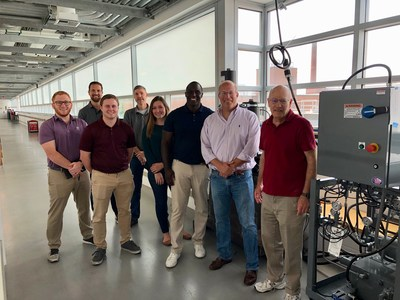 The Windpact and OIF teams are pictured with Ohio State Mechanical and Aerospace Engineering Professor Amos Gilat, among other university researchers.