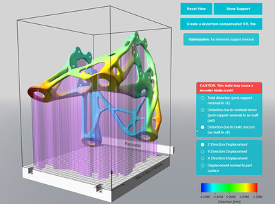 With Atlas3D, designers and manufacturing engineers can quickly gain insights into the optimal part build orientation in order to minimize supports, distortion, effort to remove supports, part material, and printing time.