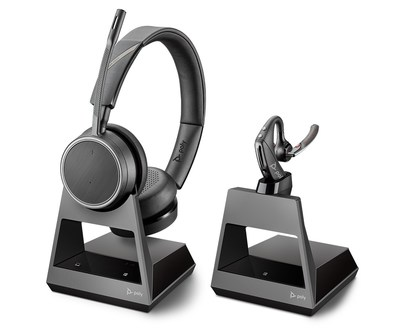 "Poly's Voyager ""Office Series"" Bluetooth headsets enable greater mobility and multiple connectivity options for office workers."