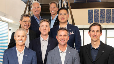 From bottom left to right: Larry Meyer, Partner and Board Member, SEAL; Trey Owen, Partner and Board Member, SEAL; William Davenport, Chief Financial Officer Topgolf Entertainment Group. Middle Row left to right: Jimmy Chen, Managing Director, Topgolf China; Joe Canterbury, Partner and Board Member, SEAL; Mike Huang, VP Operations, Topgolf China. Top Row left to right: Erik Anderson, Executive Chairman Topgolf Entertainment Group; Dolf Berle, Chief Executive Officer Topgolf Entertainment Group; Not pictured: Tony Hwang, Chariman, SEAL.