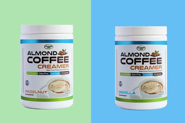 Almond Pro Almond Coffee Creamer Comes In Both Vanilla And Hazelnut Flavors