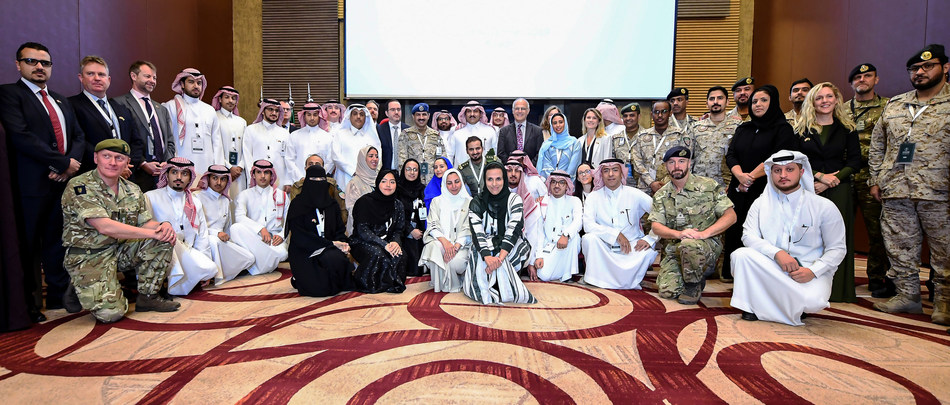 Participants from the Saudi Development and Reconstruction Program for Yemen (SDRPY) and Saudi and UK government ministries and agencies at the KSA-UK Workshop on Stabilisation, Riyadh (12 Nov 2019)
