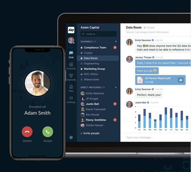 HighSide gives your team access to a modern unified comms & file sharing platform including voice, video, text & files, reducing risk of shadow IT, as well as reliance on dated/insecure comms channels.