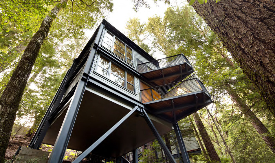 Canyon Ranch Wellness Retreat - Woodside features standalone luxury treehouse accommodations surrounded by the redwood forest. The property is now open in Woodside, Calif. Photo courtesy of Canyon Ranch.