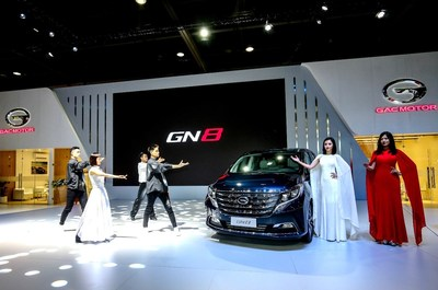 GAC Motor Launches its flagship GN8 MPV in Middle East at the show.