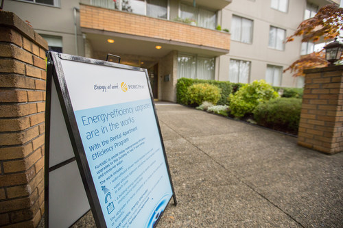 Tapping into basic energy savings in older apartments proving successful in lowering emissions, costs and demands on public infrastructure. (CNW Group/FortisBC)