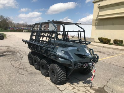 Briggs & Stratton's Vanguard commercial power brand and ARGO, a manufacturer of extreme terrain vehicles, win award for developing an electric unmanned ground vehicle.