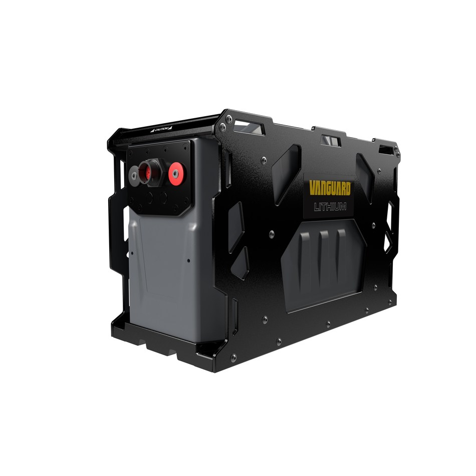 The Vanguard Lithium-Ion Battery Pack, Battery Management System and battery charger work seamlessly together to deliver efficient power and performance.