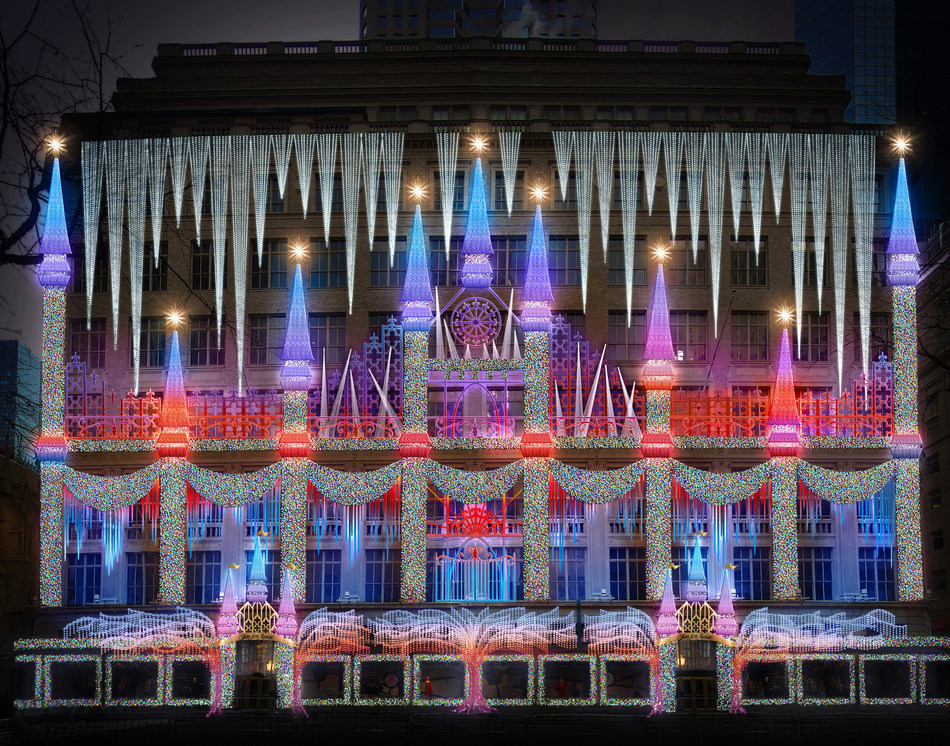 Saks Fifth Avenue Holiday 2019 Light Show Rendering