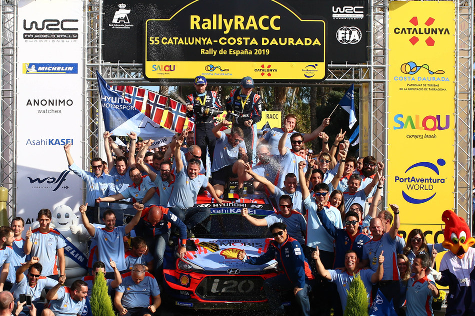 Hyundai Motorsport has secured its maiden title in the FIA World Rally Championship (WRC)*, finishing the 2019 season on top of the manufacturers' standings with a margin of 18 points over its nearest rivals.