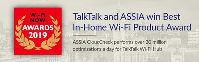 "Wi-Fi Now Awards TalkTalk and ASSIA with ""Best In-home Wi-Fi Product"""