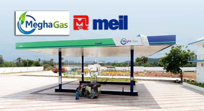 Megha Gas Station at Aagiripalli in Krishna District
