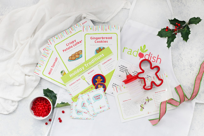 "The December kit from Raddish is ""Holiday Traditions"" and celebrates a variety of traditional holiday recipes from multiple cultures."
