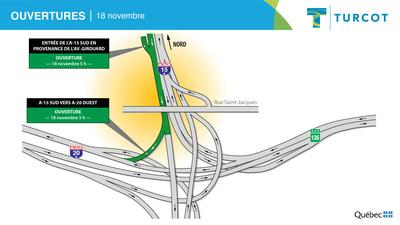 Ouvertures - 18 novembre (Groupe CNW/Ministère des Transports)