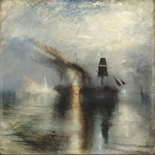 Joseph Mallord William Turner, Peace - Burial at Sea, Exhibited 1842. Oil paint on canvas. 87 x 86.7 cm © Tate, London 2017 (CNW Group/Musée national des beaux-arts du Québec)