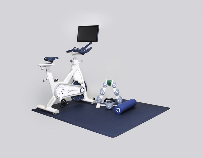 "MYXfitness offers two package options priced at $1,199 and $1,499. Both packages offer a commercial-grade Star Trac Stationary Bike Trainer, a 21.5"" interactive tablet and a Polar OH1 Heart Rate Monitor. The MYX Plus package also includes three sets of SPRI dumbbells, a kettlebell, a resistance band, a GAIAM 24"" foam roller and two mats, providing everything needed for a holistic at-home workout."