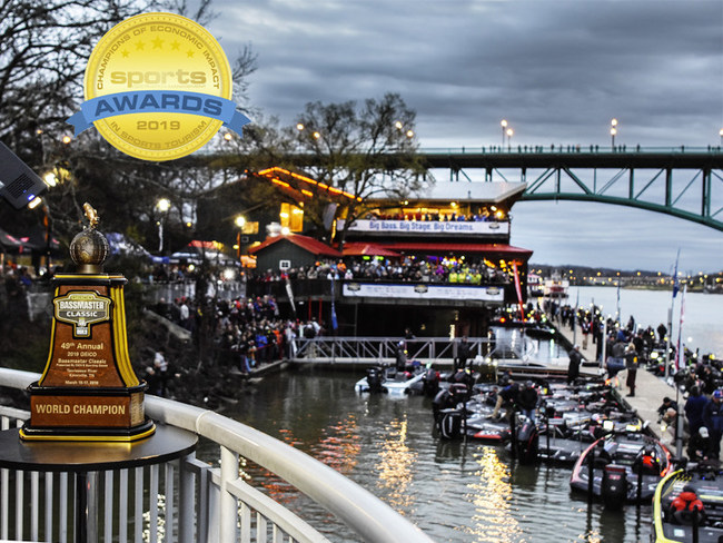 The 2019 Bassmaster Classic generated an economic impact of $32.2 million for Knoxville and east Tennessee, which earned recognition as a 2019 Champion of Economic Impact in Sports Tourism (Mid-Market Division).