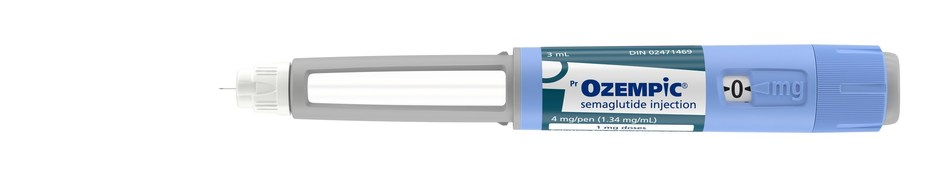 Ozempic® (semaglutide injection) product image. Source: Novo Nordisk Canada Inc. (CNW Group/Novo Nordisk Canada Inc.)