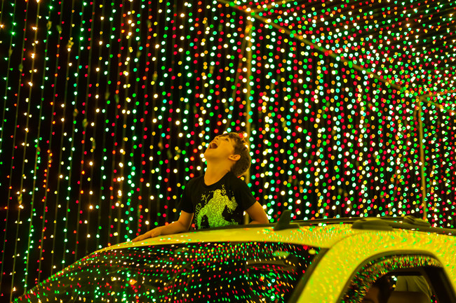 The mile-long experience is the world's largest animated holiday light show.