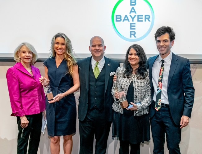 Pictured (from left to right) are AFC-USA Chairwoman Nancy Prager-Kamel, journalist Natalia Kniazhevich of Russia, Senior Vice President of Corporate Affairs for Bayer U.S. Raymond F. Kerins, Jr., journalist Priyanka Vora of India and AFC-USA President Thanos Dimadis.