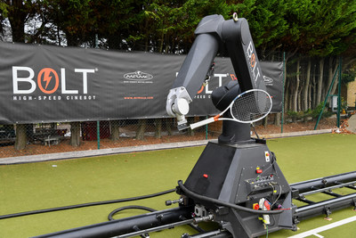 Move over Williams, sit back down Federer, there is a new name causing a stir on the tennis circuit - The Bolt High-Speed Cinebot. That's right, MRMC's (A Nikon Company) world-famous high-speed motion control cinebot has turned tennis pro. Well, for one match at least.