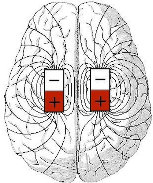 The brain has a magnetic system as well as it's chemical and electrical systems.