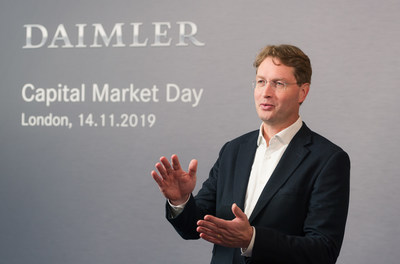 Ola Källenius, Chairman of the Board of Management of Daimler AG and Mercedes-Benz AG at the Capital Market Day 2019 in London.