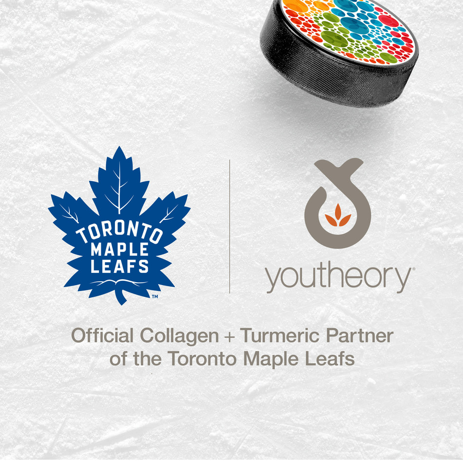 Youtheory Health Supplement Brand Partners with Toronto Maple Leafs for 2019-2020 Hockey Season