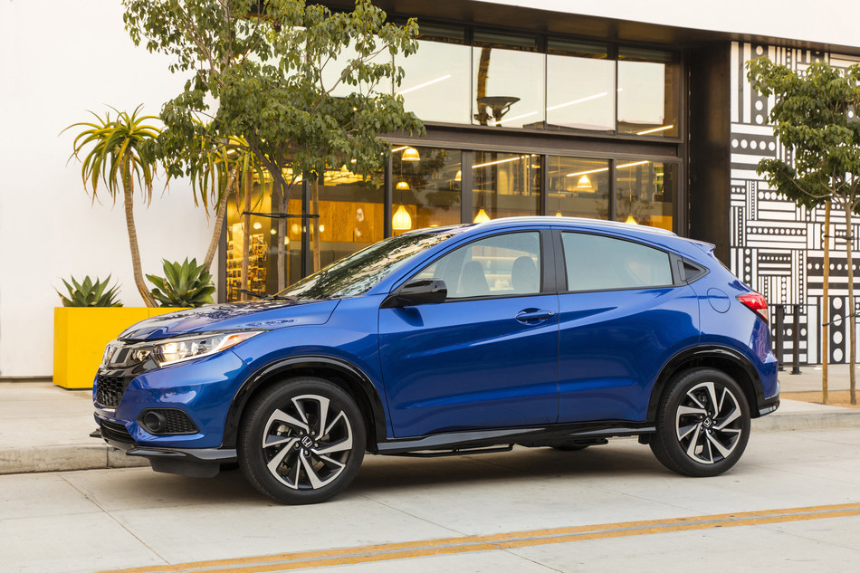 The sporty and spacious 2020 Honda HR-V begins arriving in Honda showrooms tomorrow with a starting price of $20,820 (excluding $1,095 destination and handling). Fresh from an extensive refresh for model year 2019, the 2020 HR-V carries over the new attitude and bolstered lineup with new Sport and Touring trims and available Honda Sensing®, while maintaining its class-leading cargo space and class-above interior refinement. (PRNewsfoto/American Honda Motor Co., Inc.)