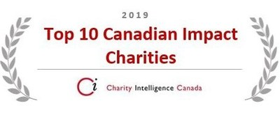 Logo : 2019 Top 10 Canadian Impact Charities (Groupe CNW/MOISSON MONTREAL)