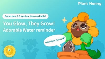 "Plant Nanny 2, the Self-care Water Consumption Reminding app Has Been Nominated for ""Google Play Best of 2019"" Launches Brand New Version 2.0"