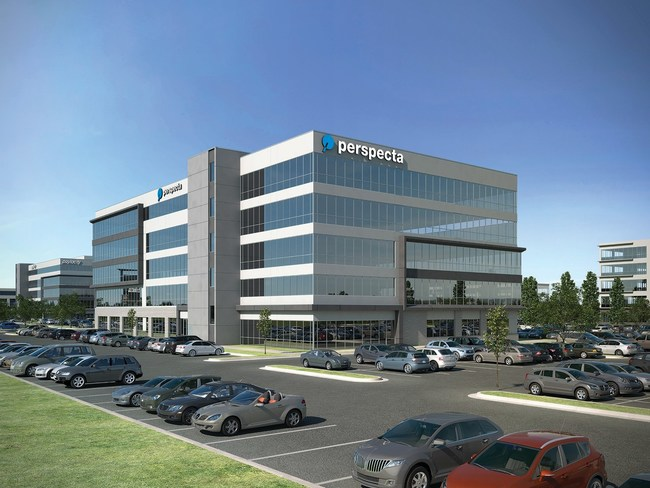 Rendering of future Perspecta building at Ten Mile Crossing in Meridian, Idaho. © 2019 BVA Development, LLC and Babcock Design Group.