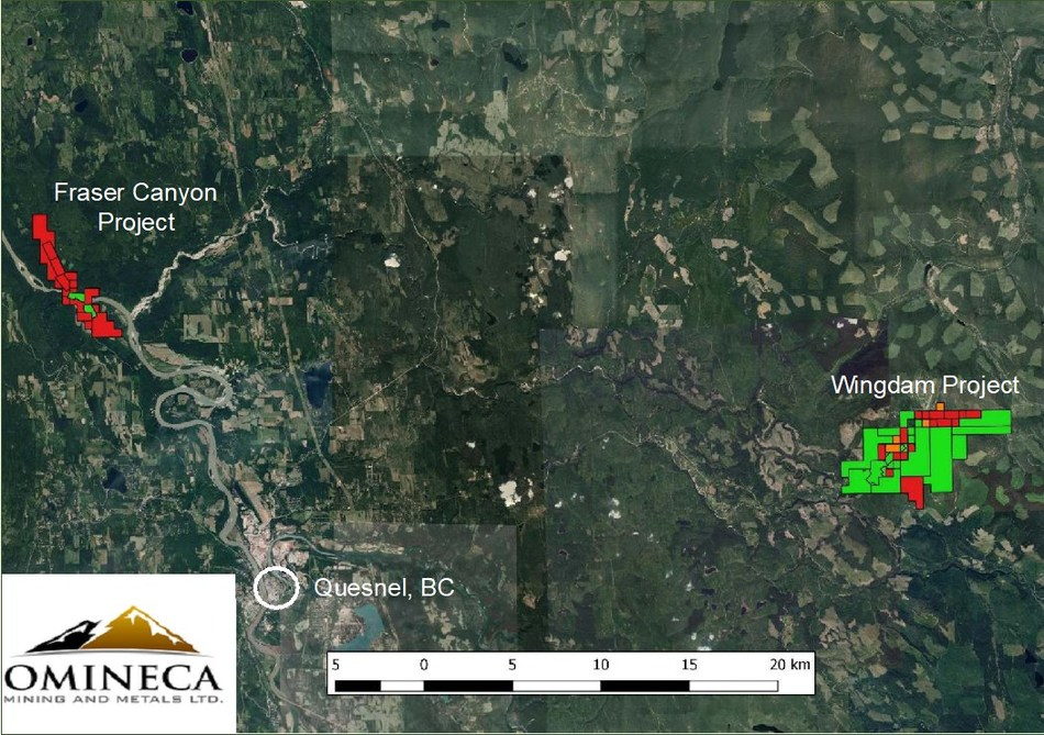 Project area (CNW Group/Omineca Mining and Metals Ltd)